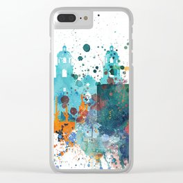 Watercolor Tucson watercolor skyline Clear iPhone Case