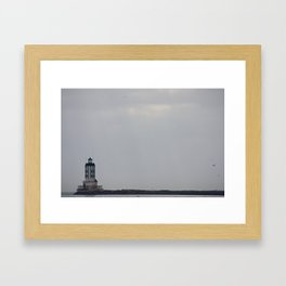 A Lonely Lighthouse Framed Art Print