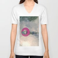 diver V-neck T-shirts featuring diver by signe constable