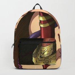 Hentai Girl With Sheathed Katana Stuck Between Tits Ultra HD Backpack