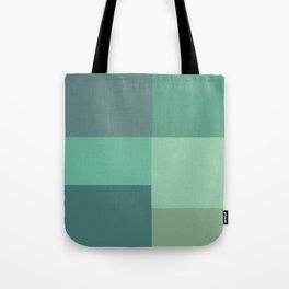 Green Squares Tote Bag