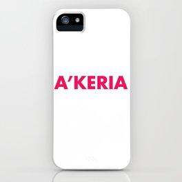 A'KERIA C. DAVENPORT iPhone Case
