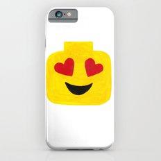 Heart Eyes - Emoji Minifigure Painting Slim Case iPhone 6s