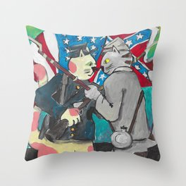 South Carolina Cats Throw Pillow