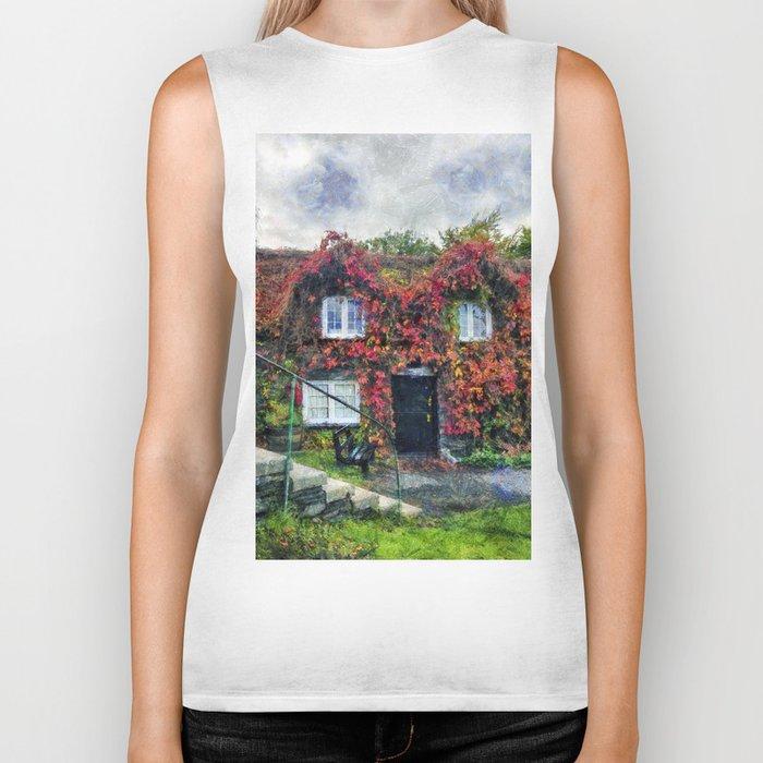 Autumn Cottage Biker Tank