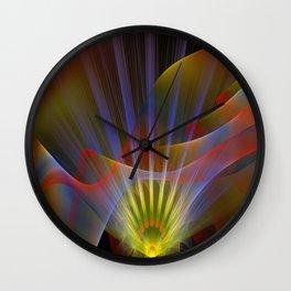 Inner light, spiritual fractal abstract Wall Clock