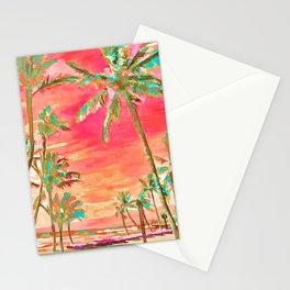 Vintage Hawaiian Beach, Mauna Lani Bay Stationery Cards