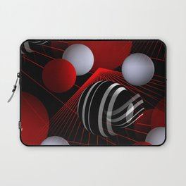 crazy lines and balls -7- Laptop Sleeve