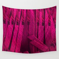 leather Wall Tapestries featuring Leather pattern by Pepita Selles