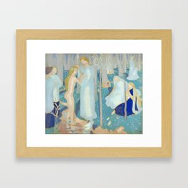 Art Nouveau Painting  - Springtime, 1899 by Maurice Denis Framed Art Print