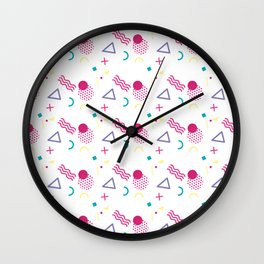 Colorful Smiley Pattern Wall Clock