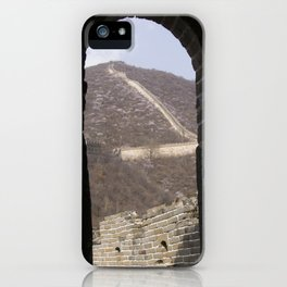A glimpse of a great wall iPhone Case