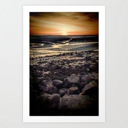 Rocky Sunset. Art Print