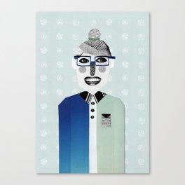 Happy Geek Girl Canvas Print
