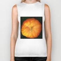 pumpkin Biker Tanks featuring Pumpkin ^_^ by Julia Kovtunyak