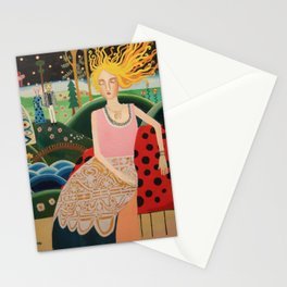 The peackok valley Stationery Cards