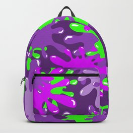 Slime in Green & Pink on Purples Backpack