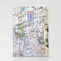 cuba Stationery Cards featuring Cuba by Leah Vaughn