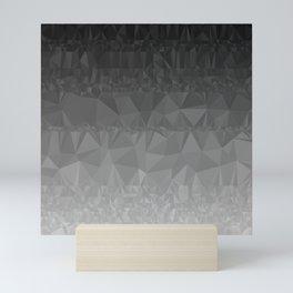 Black and Grey Ombre Mini Art Print