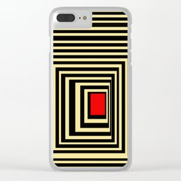 Red point Clear iPhone Case