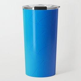 Abstract Edges Pattern (blue) Travel Mug