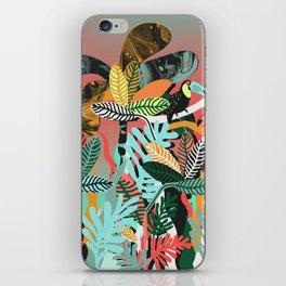 Sunset in the jungle iPhone Skin