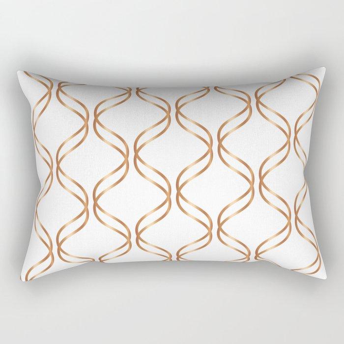 Double Helix - Rose Gold #676 Rectangular Pillow