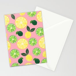 Lemon Lime in Pink Stationery Cards
