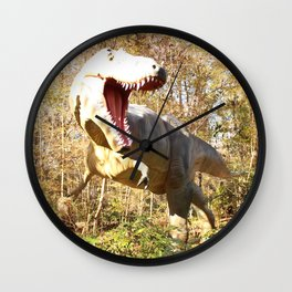 Dino's Dinner Time! Wall Clock