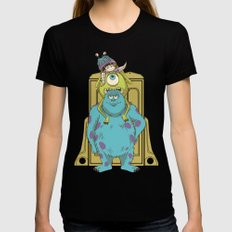 Monster Inc. Womens Fitted Tee LARGE Black
