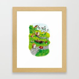 Animals wood Framed Art Print
