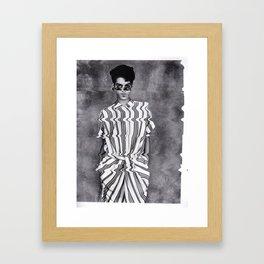Vogue Pixelated Framed Art Print