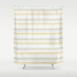 UNEASY TRIBAL Shower Curtain