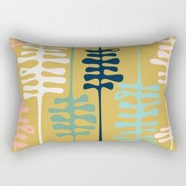 Abstract jungle - mustard Rectangular Pillow