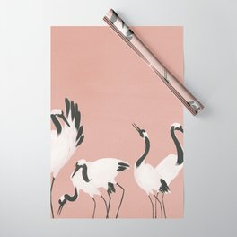 Crane Dance - Mauve Pink Wrapping Paper