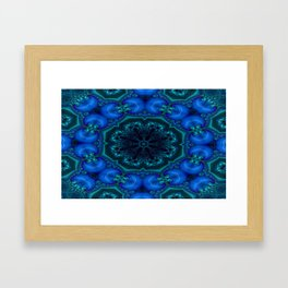 Battling At The Chasm Mandala 4 Framed Art Print
