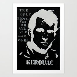 Jack Kerouac Mad Ones Quote Painting Art Print