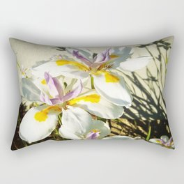 African White Iris DPGP160719a Rectangular Pillow