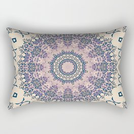 No. 20 Wisteria Arbor Way Regal Purple & Ivory Hugs and Kisses Mandala Rectangular Pillow