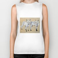 foxes Biker Tanks featuring foxes by Ashley White Jacobsen