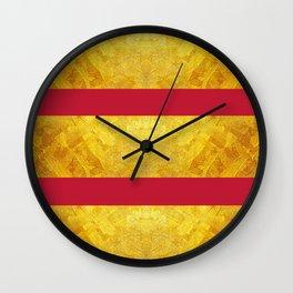 GOLD & TRUE RED  Wall Clock
