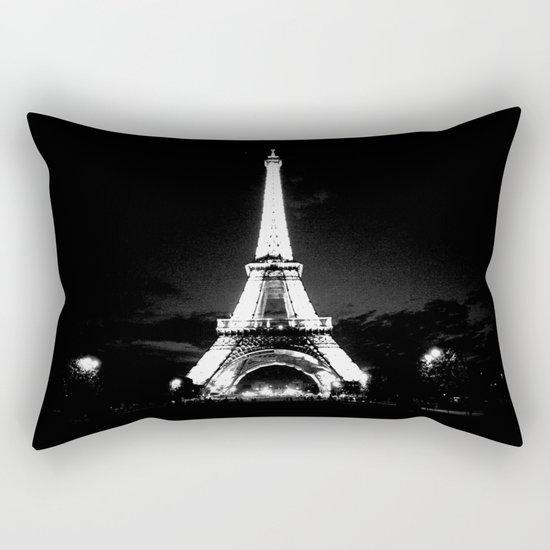 Paris Black & White Rectangular Pillow