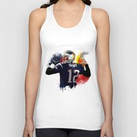 patriots Tank Tops featuring Tom Brady by J Maldonado