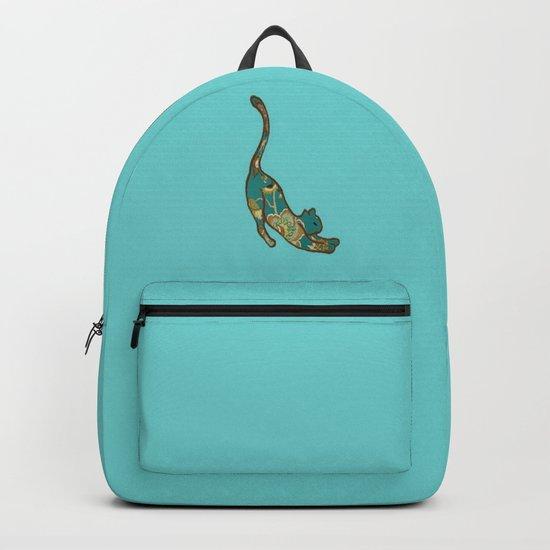 I love you Kitten in Blue-Green Backpack