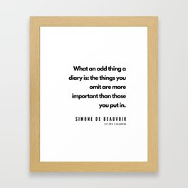 10    | Simone De Beauvoir Quotes | 190605 Framed Art Print