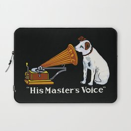Retro his master's voice, Nipper the Dog Laptop Sleeve