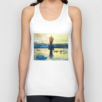 yoga Tank Tops featuring yoga by Chantale Roger