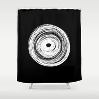 psychology Shower Curtains featuring MHANDALA by THE USUAL DESIGNERS