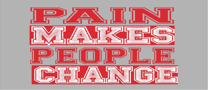 Pain Makes people Change Inspirational Quote Design Coffee Mug