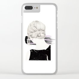 Blondie #2 Clear iPhone Case
